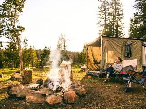 Campingplatz Caravan